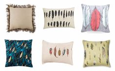 Feather throw pillows -- perfect for any bed, sofa or arm chair #home #decor #ideas