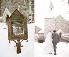 Winter Wedding love it!