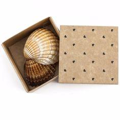 Caja deslizante - 8x8x4cm - Kraft Cuori