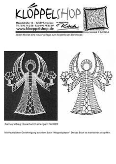 Crochet Angels, Crochet Lace, Bobbin Lace Patterns, Crochet Patterns, Lace Art, Angel Crafts, Lacemaking, Lace Jewelry, Tatting Lace