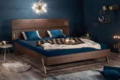 Posteľ z masívneho agátového dreva. Armoire Design, Wood Butterfly, Bed Design, Bed Frame, Industrial Style, Mattress, Solid Wood, Sweet Home, Bedroom