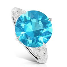 Kat Florence swimming pool-blue apatite ring