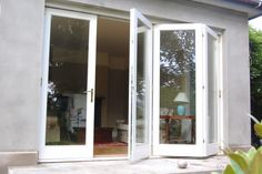 white timber bifold doors - Google Search