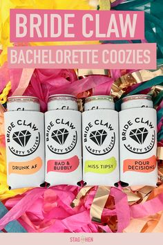 Bride Claw Skinny Can Coolers Bachlorette Party, Bachelorette Party Decorations, Party Favors, Drunk Party, Bridal Shower Planning, Gifts For Wedding Party, Wedding Ideas, Look At You, Bride Gifts