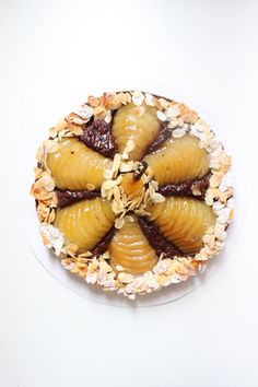 Tarte Bourdaloue poire chocolat - Recette Olivia Pâtisse Fruit Tart, French Food, Acai Bowl, Puddings, Muffin, Food And Drink, Tasty, Favorite Recipes, Cooking