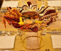 La Passera di mare ristorante di pesce, Firenze. Gran Tegame con Ostriche, gamberi imperiali, scampi ...Oysters, Prawns, scampi ...http://www.passeradimare.it/