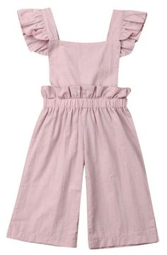 This jumpsuit with ruffle details is perfect for toddler girls As adorable as it looks A style that's worth everyone's attention Picture her in this perfect outfit Toddler Girl Style, Toddler Girl Outfits, Toddler Fashion, Kids Outfits, Kids Fashion, Toddler Girls, Toddler Jumpsuit, Ruffle Jumpsuit, Jumpsuit Pattern