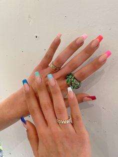 Nail Inspo, Summer Nails, Cute Nails, Nail Ideas, Spring Summer, Nail Art, Colorful, French, Ongles