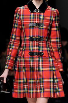 #Fall is Mad for #Plaid - #Moschino Fall/Winter 2013