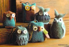 Roost Owlish Felt Ornaments