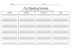 Worksheet Practice Spelling Words Worksheets spelling test search and templates on pinterest this practice page will allow your students to writing their words in a