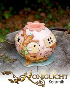 Duftlampe - Elfenhaus mit Baum von Honiglicht auf DaWanda.com