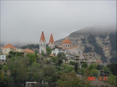 Lebanon- Becharri Cathedral as seen from the Valley of the Saints