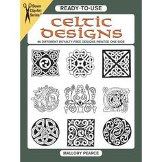 Treasury of immediately usable motifs with distinctive Celtic flair: sinuous interlacements, mythical creatures, abstracts, geometrics, more. Ideal for a host of art and craft projects. Pattern: printed. Celtic Patterns, Celtic Designs, Old English Alphabet, Celtic Spiral, Celtic Knots, Celtic Symbols, Wood Burning Patterns, Spiral Pattern, Clip Art