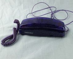 Limited Too Purple Glitter Corded Phone Telephone Girls Teen Room