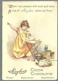 Victorian Trade Card for Huyler's Cocoa Chocolate