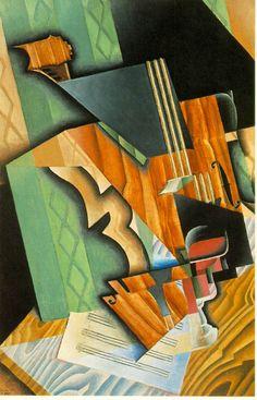 Violin and glass - Juan Gris