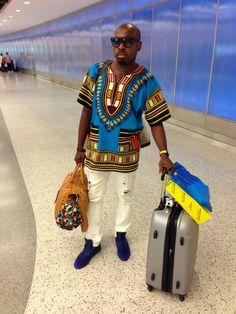 Blogger Sleepy Browne Rocking an African inspired dashiki.