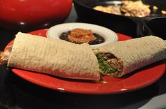 recipe: steak milanesa wrap with salsa black beans.