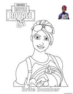 Fortnite Battle Royale Coloring Page Drif Mask Free