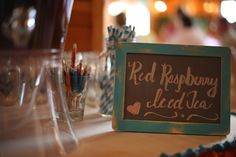 Chalkboard menus for engagement party decor. #hellogorgeous