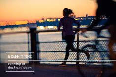 5 Safety Tips for Running at Dusk and Dawn Running In Cold Weather, Winter Running, How To Start Running, Running Tips, Fitness Tips, Health Fitness, Thing 1, Get Moving, I Work Out