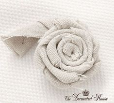 The Decorated House:~ How To Make a Fabric Flower ~ Rosette Step 1