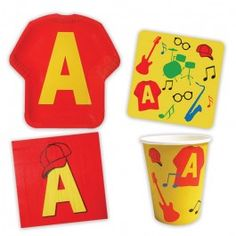 Alvin Party Supplies, Chipmunks Mini Party Packs, Tableware