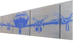 Military AIRPLANE Art 12X 60 Vintage WW2 Plane Aviation Extra large Wall Art…