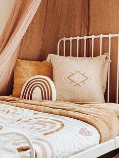 Rainbow Bedding, Rainbow Bedroom, Rainbow Nursery Decor, Bali, Boho Room, Boho Nursery, Girl Room, Girls Bedroom, Khaki Bedroom