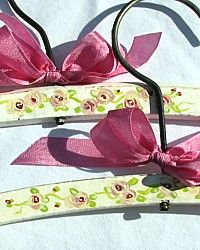 Vintage Hand Painted Shabby Roses Chic Hanger-Vintage Hand Painted Shabby Roses Chic Hanger