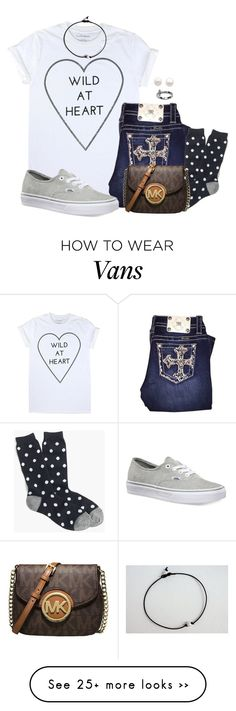 """I Went To Our Community College Football Game Earlier"" by babybutter on Polyvore featuring Miss Me, J.Crew, Reeds Jewelers, Vans and MICHAEL Michael Kors"