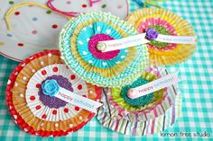 Luxe Cupcake Gift Tags, set of 4. $10  http://www.etsy.com/listing/80960005/sale-happy-birthday-luxe-cupcake-gift