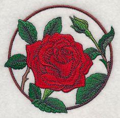 Elegant Flower Circle - Rose