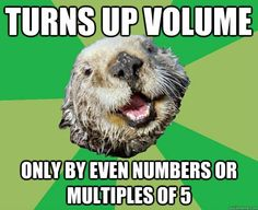 OCD Otter - on Volume Numbers