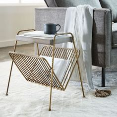 Adds additional function to the side table. Kinsey Magazine Side Table | west elm