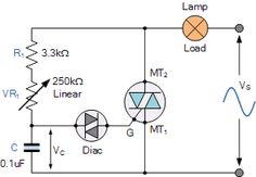 Electrical and Electronics Engineering: Diac and Triac Phase Control Electronic Circuit Projects, Electrical Projects, Electronic Engineering, Electronics Basics, Electronics Components, Electronics Projects, Atlantis, Power Supply Circuit, Simple Circuit
