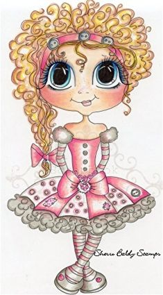 Digi Stamps PRE Colored Stamps Fancy Franny Sherri Ann