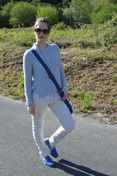 Look casual #azul #blue #anclas #casual #outfit #look #entretiempo #mocasines #loafers