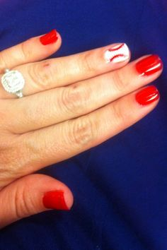 Baseball nails for the Cubs game!
