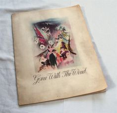 Gone with the Wind Movie Program 1939 / 1939 Program from Gone with the Wind / Scarlett O'Hara and Rhett Butler. $79.00, via Etsy.