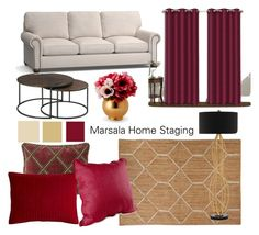 Moodboard marsala by Marsala Home Staging on Polyvore featuring interior, interiors, interior design, home, home decor, interior decorating, Hammary, Currey & Company, Nikki Chu and Pier 1 Imports