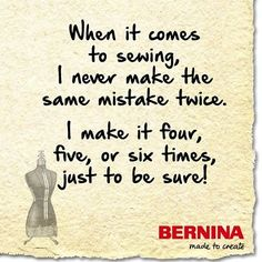 Sometimes the seam ripper is your best friend! #sewing #berninausa