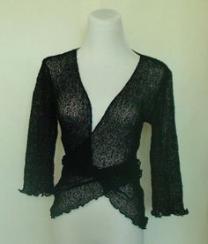 Black knit bolero jacket