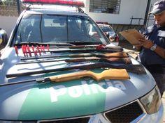 Polícia Ambiental apreende seis espingardas em Botucatu