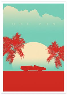 OutRun poster design by Gareth Matthews Games Box, Video Game Art, Covered Boxes, Pixel Art, Amazing, Movie Posters, Design, Film Poster, Design Comics