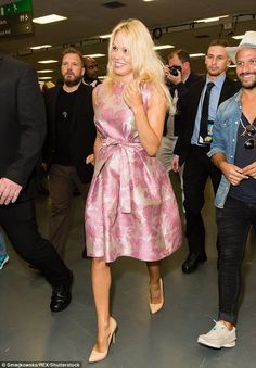 Baywatch babe! Pamela Anderson delighted fans of the hit series as she attended the first ...