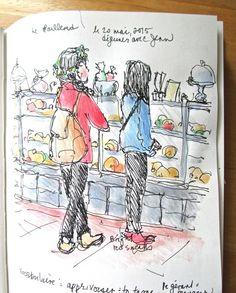 Sketchbook Wandering: From the Sketchbook: Café-Boulangérie Québec