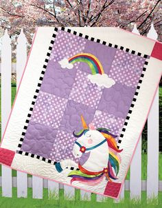 Urbi Unicorn is an adorable quilt perfect for Baby, and dimensional ears add a fun element. This quilt is a must-have for any baby. The easy to piece and applique quilt pattern includes instructions and templates. Finished size: x Embroidery Materials, Paper Embroidery, Learn Embroidery, Simple Embroidery, Beginner Embroidery, Butterfly Embroidery, Applique Quilt Patterns, Hand Embroidery Patterns, Embroidery Designs