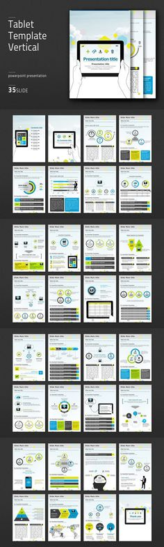 Tablet Template Vertical. Presentation Templates. $41.00